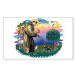 St Francis #2/ Dachshund (BT) Sticker (Rectangle 1