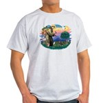 St Francis #2/ Dachshund (BT) Light T-Shirt