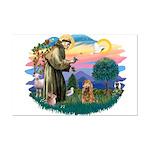 St Francis #2/ Cocker (brn) Mini Poster Print