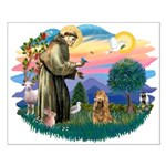 St Francis #2/ Cocker (brn) Small Poster
