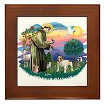 St Francis #2/ Eng Bulldog Framed Tile