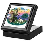 St Francis #2/ Eng Bulldog Keepsake Box