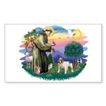 St Francis #2/ Eng Bulldog Sticker (Rectangle)