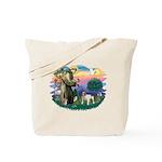 St Francis #2/ Eng Bulldog Tote Bag