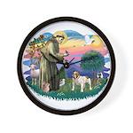 St Francis #2/ Eng Bulldog Wall Clock