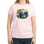 St Francis #2/ Eng Bulldog Women's Light T-Shirt