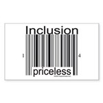 Inclusion Priceless Sticker (Rectangle 50 pk)