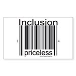 Inclusion Priceless Sticker (Rectangle 10 pk)