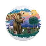 St Francis #2/ Cairn (br) Ornament (Round)