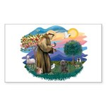 St Francis #2/ Cairn (br) Sticker (Rectangle)