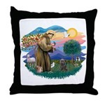 St Francis #2/ Cairn (br) Throw Pillow