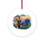 St Francis #2/ Cavalier (r) Ornament (Round)