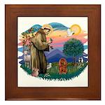 St Francis #2/ Cavalier (r) Framed Tile