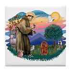St Francis #2/ Cavalier (r) Tile Coaster