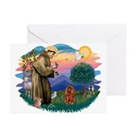 St Francis #2/ Cavalier (r) Greeting Cards (Pk of