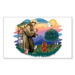 St Francis #2/ Cavalier (r) Sticker (Rectangle)