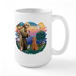 St Francis #2/ Poodle (Std-Ap) Large Mug