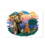 St Francis #2/ Poodle (Std-Ap) Postcards (Package