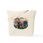 St Francis #2/ Poodle (Std-Ap) Tote Bag