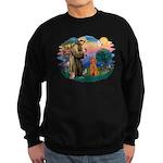 St Francis #2/ Poodle (Std-Ap) Sweatshirt (dark)