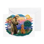 St Francis #2/ Poodle (Std-Ap) Greeting Card