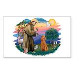 St Francis #2/ Poodle (Std-Ap) Sticker (Rectangle