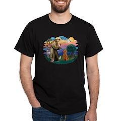 St Francis #2/ Poodle (Std-Ap) T-Shirt