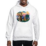 St Francis #2/ Poodle (Std-Ap) Hooded Sweatshirt