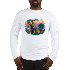 St Francis #2/ Poodle (Std-Ap) Long Sleeve T-Shirt