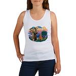 St Francis #2/ Poodle (Std-Ap) Women's Tank Top