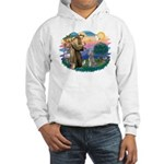 St Francis #2/ Poodle (Std S) Hooded Sweatshirt