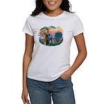 St Francis #2/ Poodle (Std S) Women's T-Shirt