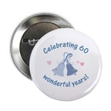 "60th Anniversary Bells 2.25"" Button"