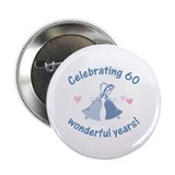 "60th Anniversary Bells 2.25"" Button (100 pack)"