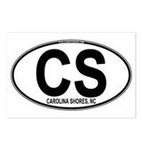 Carolina Shores CS Euro Oval Postcards (Package of