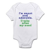 smart and adorable like my aunt Infant Bodysuit