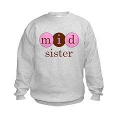 Mid Sister (Middle Sister Cir Kids Sweatshirt