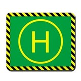 Micro Heli Landing Pad Mousepad