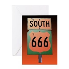 Route 666 Greeting Card