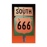 Route 666 Decal