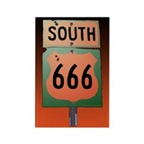Route 666 Rectangle Magnet (10 pack)