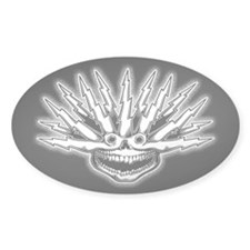 Fried Skull Bumper Stickers