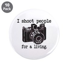 "I Shoot People 3.5"" Button (10 pack)"