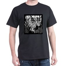 Zebras Black T-Shirt