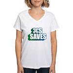 Command S Saves Women's V-Neck T-Shirt