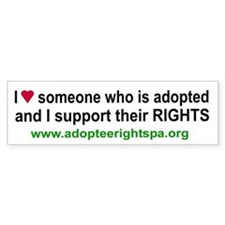Cool Adoptee rights Bumper Sticker