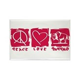 Peace.Love.Buffalo Rectangle Magnet