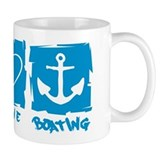 Peace.Love.Boating Small Mug