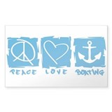 Peace.Love.Boating Decal