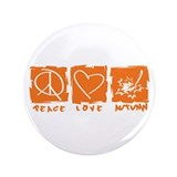 "Peace.Love.Autumn 3.5"" Button"